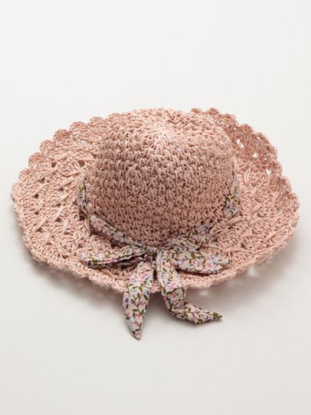 Flower Ribbon Paper Hat