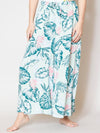 Tropical Print Wide Pants-Pants & Shorts-Ametsuchi