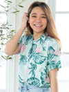 Tropical Print Hawaiihemd-Shirts & Blusen-Ametsuchi