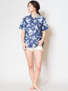 Chambray Cotton Hawaiian Shirt-Ametsuchi