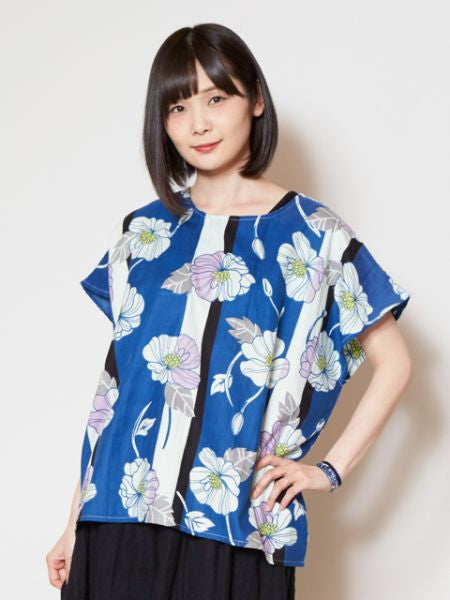 Stripe Poppy Top-Tops-Ametsuchi