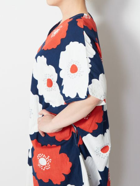 Hollyhock Floral Midi Dress