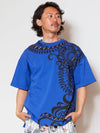 Tribal Pattern Oversized T shirt-Ametsuchi