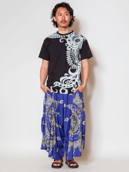 Tribal Pattern Men's T shirt-Ametsuchi