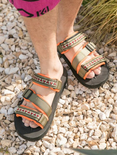 Geometric Tape Sports Mix Style Sandals-Shoes-Ametsuchi