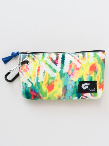 Navajo x Tie Dye Pouch with Carabiner Clip