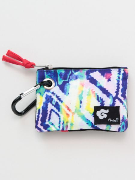 Navajo x Tie Dye Small Pouch with Carabiner Clip-Ametsuchi