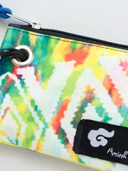 Navajo x Tie Dye Small Pouch with Carabiner Clip