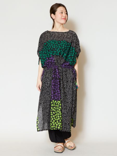 African Colorful Dot Dress