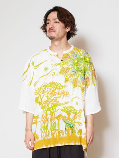 Savanna Oversized Men's Top-Tops-Ametsuchi