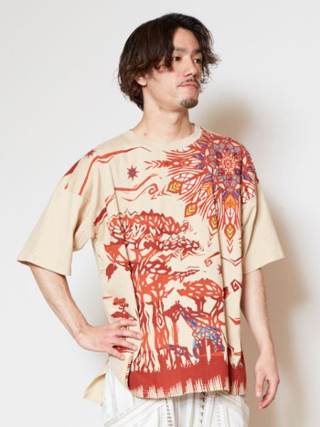Savanna Oversized Men's T Shirt-Ametsuchi