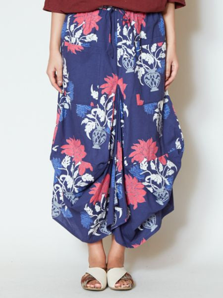 Oriental Flower Balloon Skirt