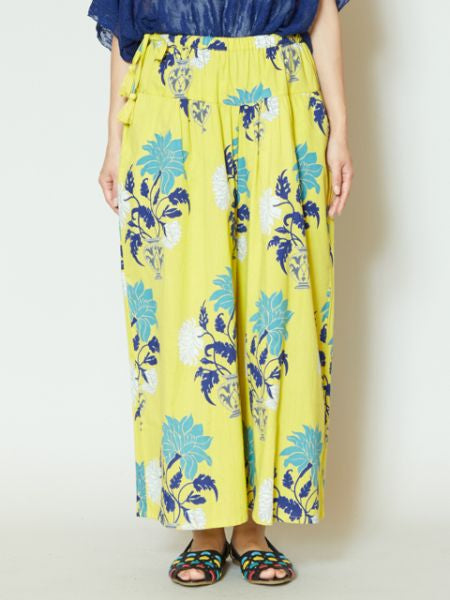 Oriental Flower Wide Pants