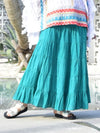 Plain Cotton Tiered Skirt