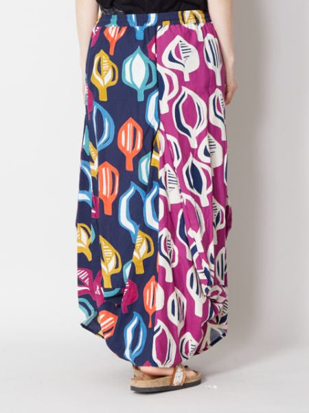 Colorful Geometric Print Balloon Skirt