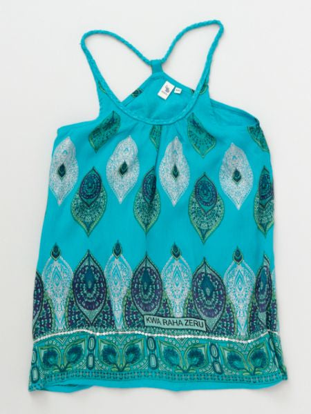 African Pattern Sleeveless Camisole Dress 110cm-Ametsuchi