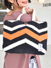 Handwoven Cotton Rug African Geometric Pattern Mini Tote Bag-Ametsuchi