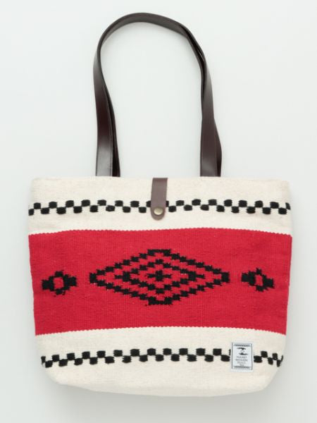 Handwoven Cotton Rug African Geometric Pattern Tote Bag-Ametsuchi