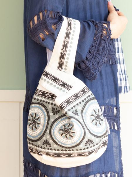 Spanish Pottery Inspired Round Tote Bag