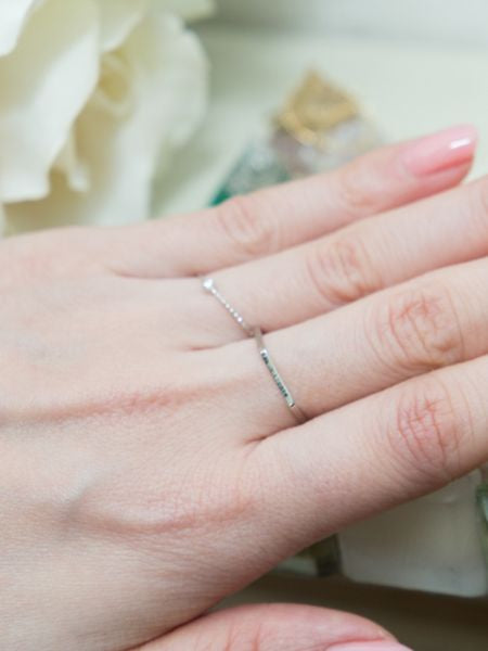 Amalfi Coast Inspired Rings with Stand-Ametsuchi