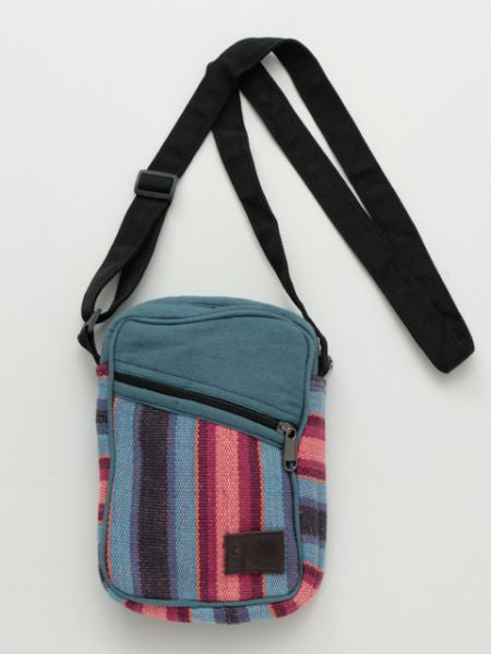 Hand Woven Stripe Pattern Shoulder Bag-Bags & Purses-Ametsuchi