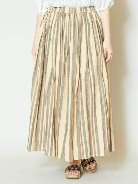Nepali Cotton Stripe Skirt