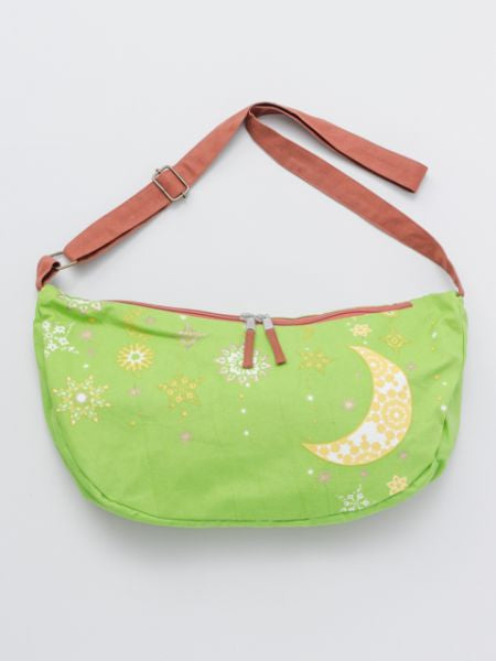 Night Sky Printed Crescent Moon Bag