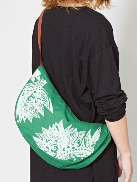 Tribal Pattern Printed Crescent Moon Bag