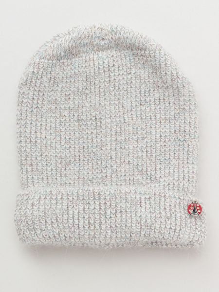 Knitted Beanie with Ladybug Charm