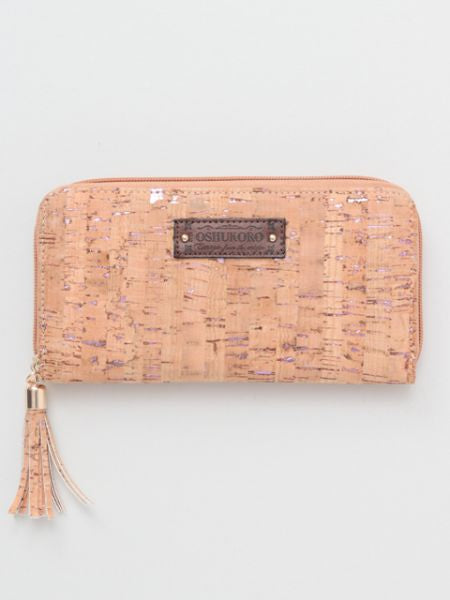 Faux Cork Long Wallet