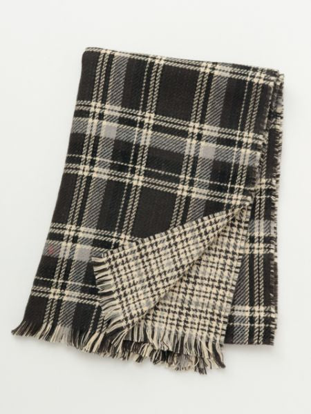 Mixed Tartan Plaid Shawl-Ametsuchi