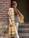 Double Plaid Pattern Shawl-Ametsuchi