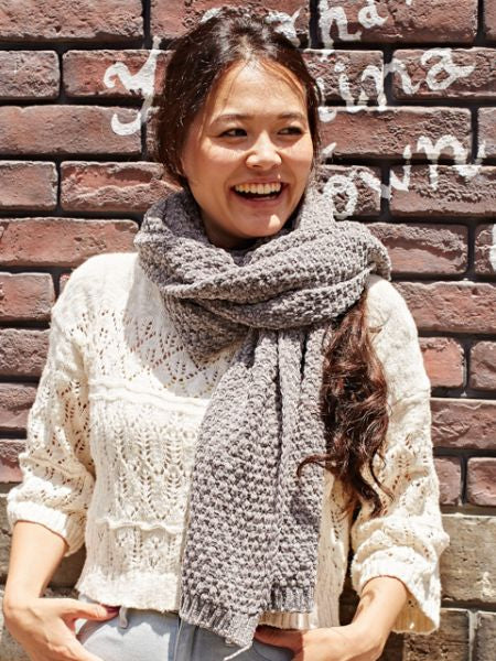 Comfy Texture Knitted Scarf-Ametsuchi