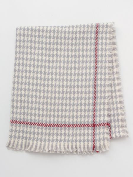 Houndstooth Check Shawl-Ametsuchi
