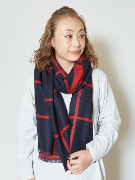 Square Pattern Reversible Scarf
