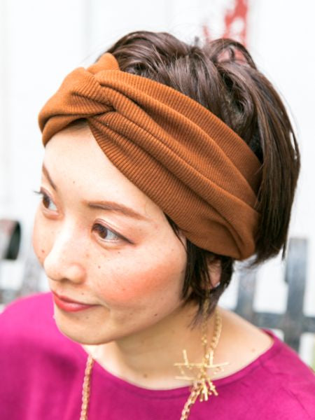 Turban Style Twisted Hair Band-Ametsuchi