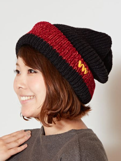 Nepal Hand Made Bi Color Knitted Beanie-Ametsuchi