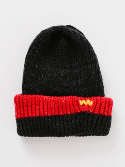 Nepal Hand Made Bi Color Kid 's Knitted Beanie-Accessories-Ametsuchi