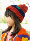 Nepal Hand Made Bi Color Kid's Knitted Beanie-Ametsuchi