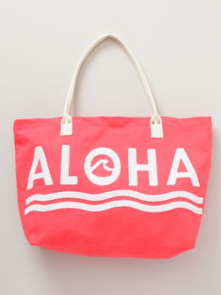 Aloha 3D Embroidered Big Tote Bag