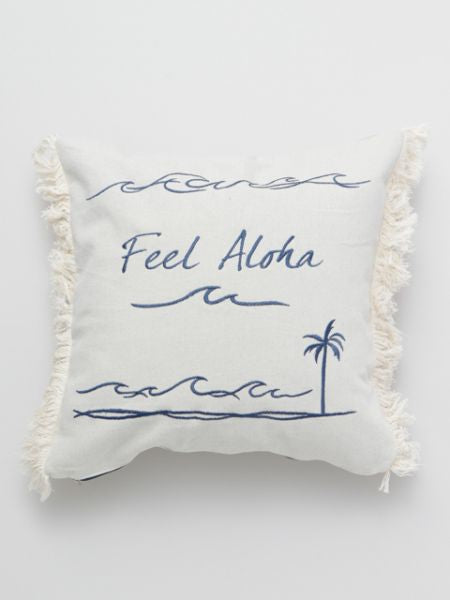 Denim Aloha Pillow Cover
