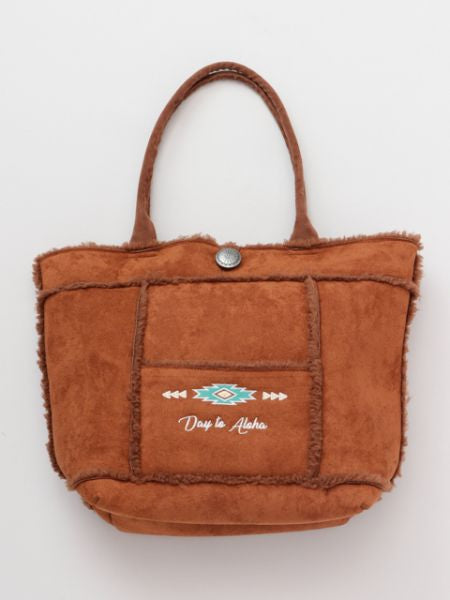 Day to Aloha Faux Mouton Tote Bag