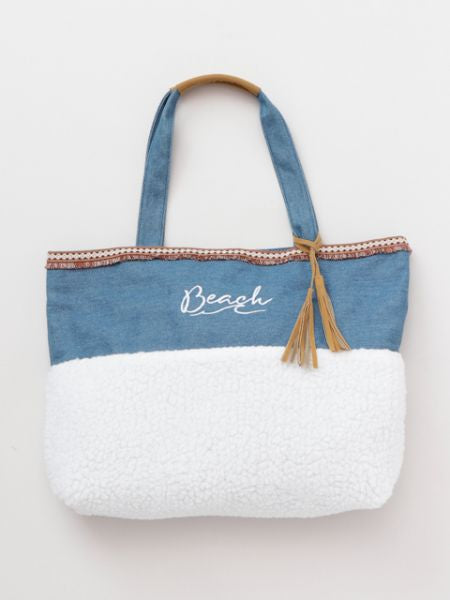 Denim x Boa Mini Tote Bag-Ametsuchi