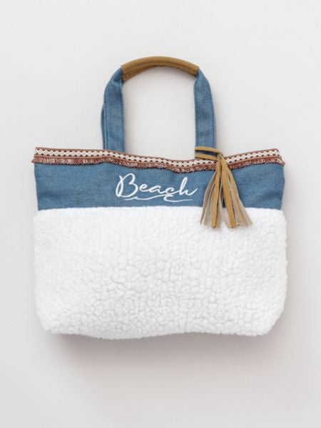 Denim x Boa Tote Bag-Ametsuchi