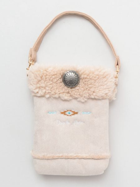 Day to Aloha Faux Mouton Mobile Pouch-Ametsuchi