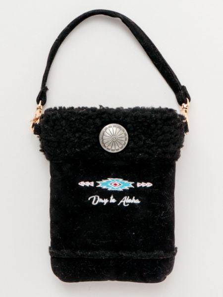 Day to Aloha Faux Mouton Mobile Pouch