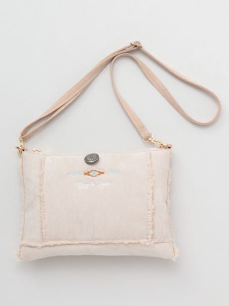Day to Aloha Faux Mouton Shoulder Bag-Ametsuchi