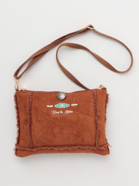 Day to Aloha Faux Mouton Shoulder Bag