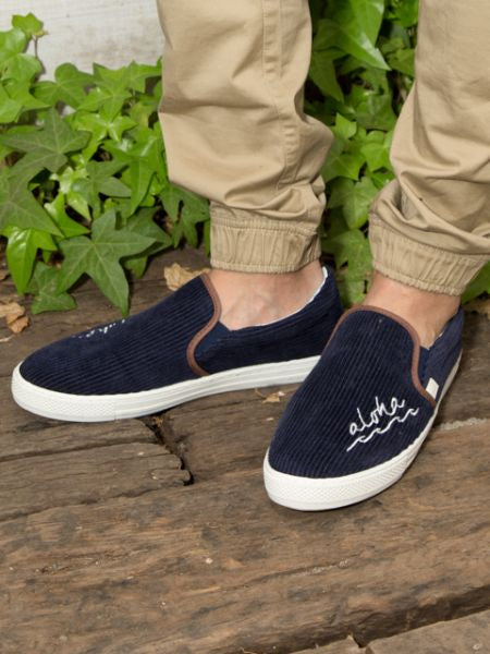 Aloha Corduroy Slip-on Shoes