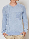 Acid Washed Cotton Knit Herren-OberteileAmetsuchi